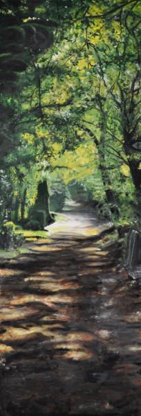 Sonne auf dem Friedhof, Gemälde